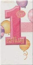 1st Birthday Girl Pink Party Supplies - Plastic Party Table Cover 137cm x 213cm