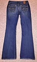 BKE Womens Sabrina Stretch Dark Wash Distressed Jeans from Buckle Size 27R X 29