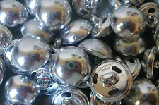 80 Vintage buttons  Shiny Silver. Metal. Light weight