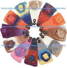 Wholesale 12 HEADWEAR Crochet Colorful Rosette Knit Headwrap Headband Ear Warmer