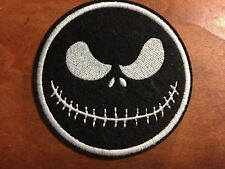"""MISTER JACK The Nightmare Before CHRISTMAS - Embroidered Iron On Patch 3 """"-BLACK"""