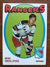 1971/72 Topps Hockey Card #53 Rod Seiling New York Rangers EX+