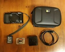 Black Nikon COOLPIX S9900 16.0MP Digital Camera 30x Wide Full HD -Tested Working