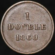 More details for 1868/30   guernsey 1 double   coins   km coins