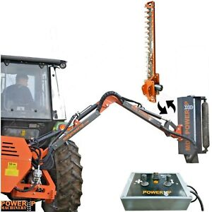 Tractor Hedge Cutter Flail with Scissor Bar - Electronic Joystick Operated! UK