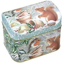 Dose Winterpicknick 100 g Truhe 10,5 x 7,8 x 6  cm Teedose Eichhörnchen