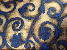 "CLAUDE MONTANA ~ GRAY w/ BLUE IRON FILIGREE ORNAMENT ~ MENS SILK DRESS TIE ~ 57"""
