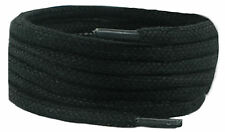 Laces Black 120 cm 4 mm oval wax cotton shoe & Boot Laces 2 pair pack