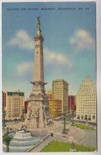 USA postcard - Soldiers and Sailors Monument, Indianapolis