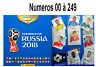 Sticker PANINI FIFA 2018 World Cup Russia  2018. 00 à 249 (Album 682 stickers )