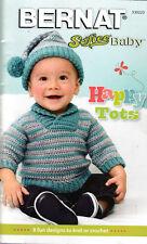 BERNAT SOFTEE BABY HAPPY TOTS PATTERN ~ 8 FUN DESIGNS TO KNIT OR CROCHET