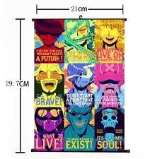 "Hot Japan Anime One Piece Luffy Zoro Sanji Wall Scroll Home Decor 8""×12"" 010"