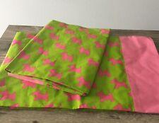LITTLE MISS MATCHED 2 pillowcases Scottish Terrier scottie dog green pink cotton