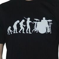 Evolution Drummer  Drumming T-Shirt Funny Drum Kit Mens Evolution of Man Ape