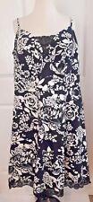 Rockabilly Dress Plus Size 16 Black White Floral Fit Flare Empire Waist Lace XXL