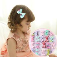 20Pcs Kids Bow Ribbon Hair Bow Mini Latch Baby Girl's Clips Hair Clip Hairpins