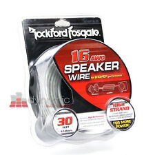RockFord Fosgate RFWP16-30 Car 16 AWG Speaker Sub Wire 30ft. Black/Silver New