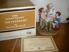 "Norman Rockwell ""The Toymaker"" Figurine, 1980 Annual Collector's Club Box Coa"