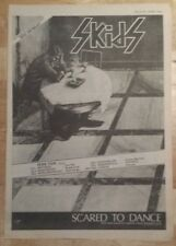 Skids Scared to Dance tour 1979 press advert Full page 28 x 40 cm mini poster
