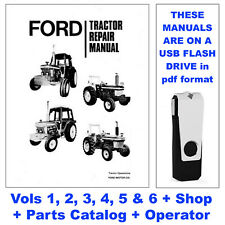 Ford 7610 6 Volume Tractor Service Manual, Owners, Shop, Parts Catalog USB Drive
