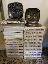24 ARABIA OF FINLAND, KALEVALA ANNUAL WALL PLATES 1976-1999 Nib