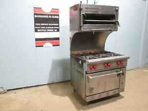 """""""WOLF C36S-1A"""" COMMERCIAL HD (NSF) NAT. GAS 6 BURNERS STOVE w/OVEN & SALAMANDER"""