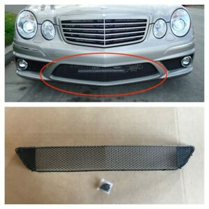 2007-2009 MERCEDES BENZ W211 E63 FRONT BUMPER LOWER CENTER MESH GRILLE W/ CLIPS