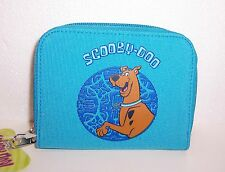 SCOOBY DOO Turquoise ZIPPERED WALLET COIN PURSE ID Card Case Tote NEW!