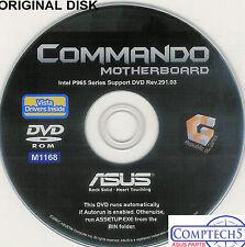 ASUS GENUINE VINTAGE ORIGINAL DISK FOR COMMANDO Motherboard Drivers Disk M1168