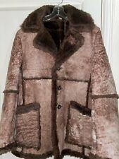 Vtg Wilsons Men's Shearling Sheepskin Leather Jacket Marlboro Fur Coat Size 46