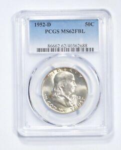 MS62 FBL 1952-D Franklin Half Dollar - Graded PCGS *505