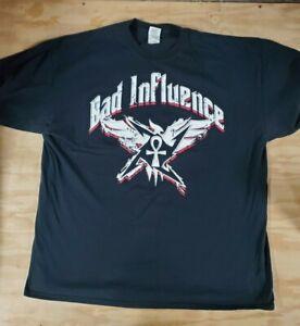 TNA Impact Wrestling Bad Influence 2XL XXL T-Shirt Kazarian Daniels AEW SCU