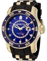 Invicta 6993 Men's GMT Blue Dial Black Rubber Strap Swiss Watch