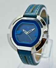 Fastrack by Titan - Unique Shaped Women's Watch, Stainless Steel, Blue Leather