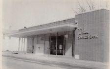 Miles Iowa~Miles Savings Bank~Close Up Windows~1940s Real Photo Postcard