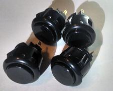 Black arcade button Sanwa OBSF-24 set of 4
