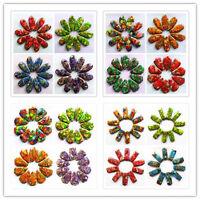 10pcs Mixed Color Sea Sediment Jasper & Pyrite Pendant Bead Choose Color