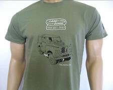 LAND ROVER SERIES IIA T-SHIRT - 5 sizes in Khaki or Olive Green  FWD logo design