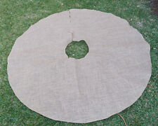 "Burlap Christmas Tree Skirt - 60"" Diameter"