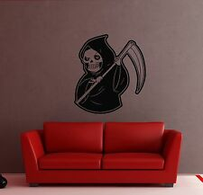 Wall Stickers Vinyl Decal Death Grim Reaper Skull Hell Horror (ig448)
