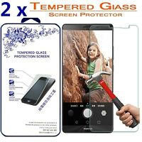 2x For Huawei Mate 8 [ Tempered Glass ] Screen Protector HD
