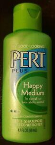 PERT Plus 2 In 1 SHAMPOO Conditioner HAPPY MEDIUM Set of 5 Travel Size 1.7 oz.