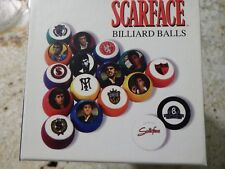 Scarface Collectible Billiard Balls Complete Ball Set 16 Pool Balls
