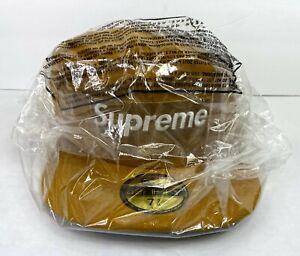 Supreme Champions Box Logo New Era Hat Cap Size 7 3/8 Wheat SS21 Brand New 2021
