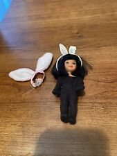 kelly doll barbies little sister w/ costume black hair brown eyes