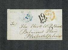 "Transatlantic Ship Cover Bristol To Philadelphia 1853 ""Niagara"""