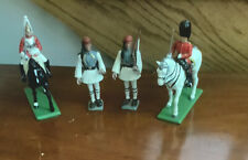 Set Of Four Vintage Metal Toy Soldiers Britain & Aohna
