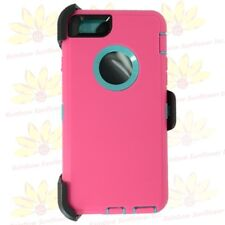 For Apple iPhone 6 / 6s  Defender Case w/ Clip fits Otterbox Pink Teal
