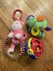Lot+of+3+baby+infant+rattles+teethers+baby+einstein+Ball+%3A+Monkey+%26+Frog