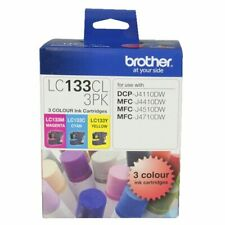 BROTHER LC-133 COLOUR 3 INK PACK GENUINE PRODUCT BRAND NEW